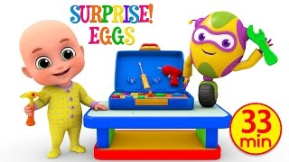Kids Toys - Tool Kit Toy for children   Unboxing Surprise Eggs from Jugnu Kids