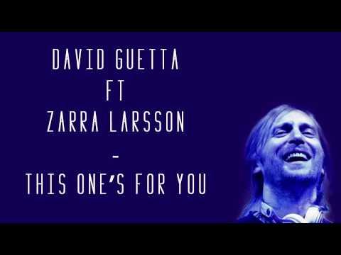 David Guetta Ft Zara Larsson This One S For You Lyrics