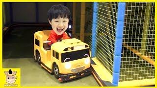 Tayo bus тайо автобус Indoor Playground Fun for Kids and Family Play Rainbow Colors|MariAndKids Toys