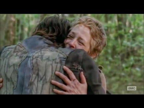 The Walking Dead 5x01 Carol & Daryl Hug Rick reunites with Baby Judith and  tyrese and Sasha