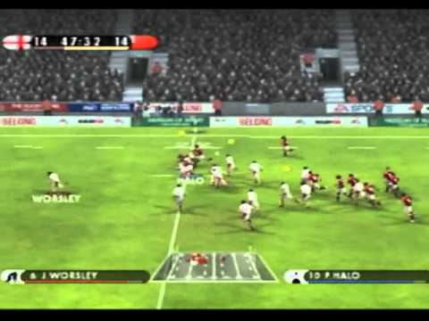 EA Rugby 08 Multiplayer England vs Tonga EPIC 80th Minute Nailbiter