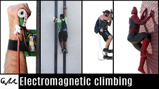 Electromagnetic climbing like a Spiderman