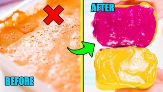 Turning My Old Slimes Into Food! SLIME MAKEOVER CHALLENGE