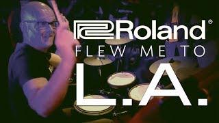 Roland Flew Me To LA | Orlando Drummer Vlog
