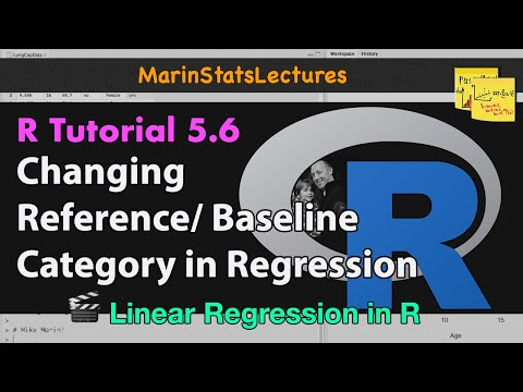 Change Reference/Baseline Category for a Categorical Variable in Regression Model (R Tutorial 5.6)