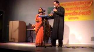 Moyur Konthi Rater Neel e, Labonno in a duet song with Tapan Chowdhury in Stockholm