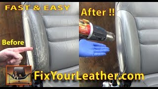 Automotive Leather Repair on Bolster - Quick Video Repair