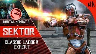Mortal Kombat 9: Sektor Klassic Ladder EXPERT [NO LOSSES] 2019   #MK11 #SEKTOR