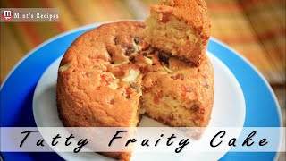 Cake Recipes Without Oven - Eggless Tutti Fruity Cake in Pressure Cooker - Recipe in Hindi - Ep-75