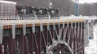 First Train over the New Arch Bridge in Letchworth State Park!
