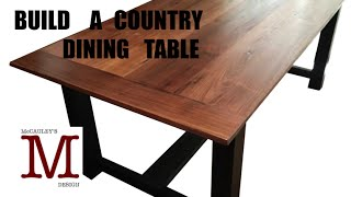 Building a Country Dining Table 011