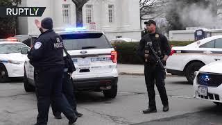 توقيف سيدة مسلحة بمسدس صدمت بسيارتها حاجزا أمنيا للبيت الأبيض