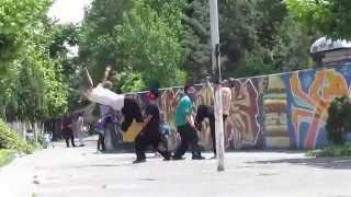 دختر پسرای تهران ایران فری استایل پارکور رقص شهرک غرب اکباتان نیایش - Tehran girls & Boys Parkour