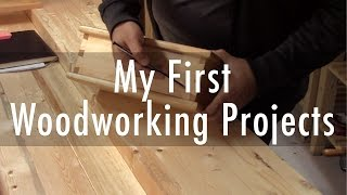 My first hand tool furniture projects
