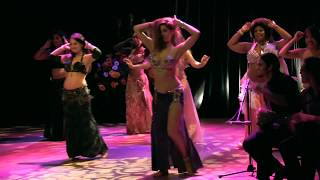 Sadie Bellydance and David Live Group Drum Solo