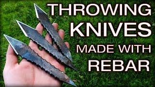 Quick And Easy Throwing Knives Made Out Of Rebar Steel