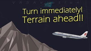 [REAL ATC] Air China A320 receives TERRAIN ALERT   ALMOST CRASHED