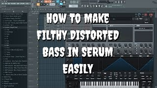 How To Make Heavy Distorted Bass SIIMPLY Like Hybrid Artists Using SERUM !!!!