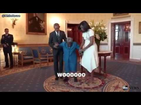 106 YEAR OLD Woman Meets Pres. Obama
