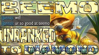 Teemo evolves to BEEMO! Unranked to Diamond with BEEMO ONLY! | Day 1