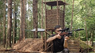 Hunting Tower, Campfire & Stalking Deer with HD Cameras at The Bushcraft Camp