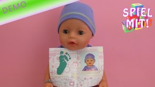 Baby Born Interactive Deutsch – Baby Born Boy geht aufs Töpfchen macht in die Windel bekommt Namen