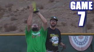 USING A CARDBOARD GLOVE! | Offseason Softball Series | Game 7