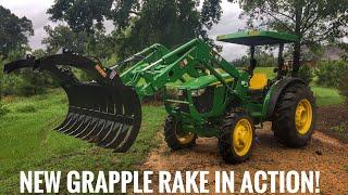 New grapple rake is working!