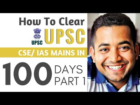 How To Clear UPSC CSE Mains in 100 days Part 1 by Roman Saini IAS Preparation