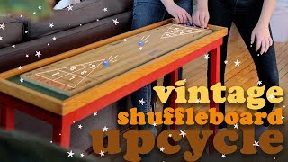 VINTAGE SHUFFLEBOARD TABLE THRIFT FLIP