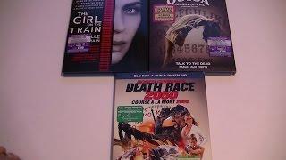 Présentation (unboxing) The Girl on the train, Ouija: Origin of evil et Death Race 2050