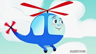 Helicopter and Plane Song! Kids Nursery Rhymes - Fun Songs for Children | FluffyJet Toys Animation