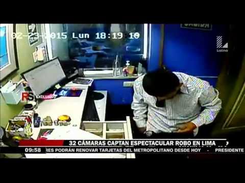 Lima Espectaculares robos son captados por cámaras de seguridad