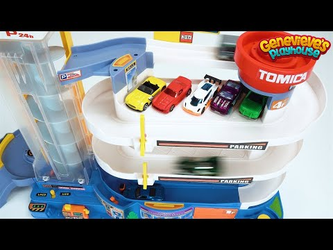 Preschool Learning Toy Cars Video for Toddlers Teach Kids Colors with Tomica Playset Fun Education