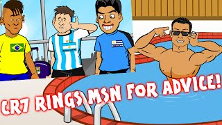 RONALDO rings MESSI/MSN for advice (Parody)(Real Madrid vs Atletico Champions League Final 2016 1-1)