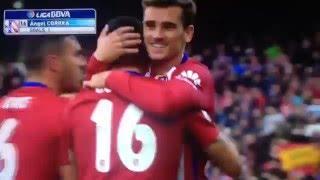 Liga : Atlético Madrid 1-0 Malaga CF (Angel Correa)