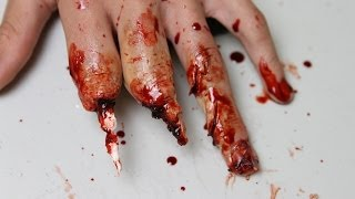 mutilated hand makeup using wax tutorial freakmo