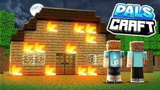 OUR HOUSE BURNED DOWN!? | PalsCraft 2 - Episode 3