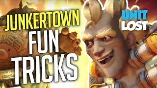 Overwatch - Fun on JUNKERTOWN! Tricks and Tips! (Map Analysis)