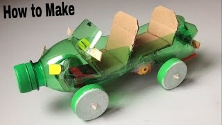 How to Make a Car Out of Plastic Bottle - (Powered Car/Electric Toy)