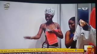 Big brother naija 2017 shower hour   Tboss, Bisola, Debbie