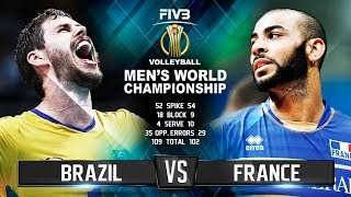 Brazil vs. France | Highlights | Mens World Championship 2018