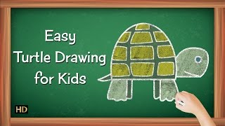 How To Draw Turtle | Easy Drawing Videos For Children | Shemaroo Kids