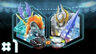BEYBLADE BURST Gameplay #1 - Valtryrek VS Odax! REKT TIME!