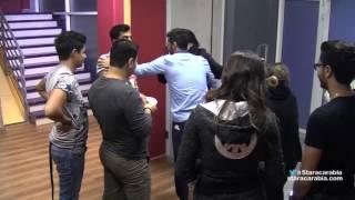 لحظة رجوع حنان الخضر الى الاكاديمية من رحلة فرنسا - ستار اكاديمي 11 - 14/12/2015