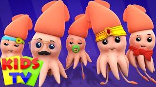 Squid Finger Family   Nursery Rhymes   Kids Songs   Children Rhymes