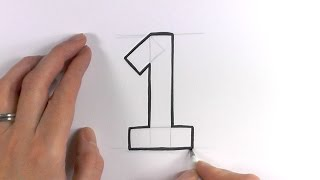 How to Draw a Cartoon Number 1