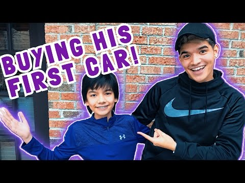 BUYING LITTLE BROTHER HIS FIRST CAR!