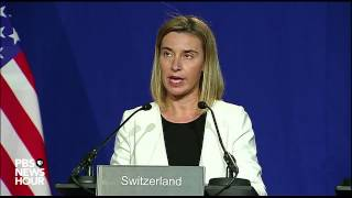 Watch EU and Iran jointly announce framework for Iran nuclear deal