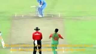 Dhoni Hits Mustafizur Rahman & Pushes Him intentionally